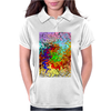 Abstractly Colorful Womens Polo