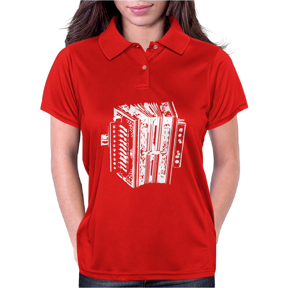 Accordion Instrument Womens Polo