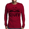 Accountants know stuff - blk Mens Long Sleeve T-Shirt