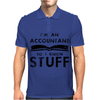 Accountants know stuff - blk Mens Polo
