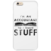 Accountants know stuff - blk Phone Case