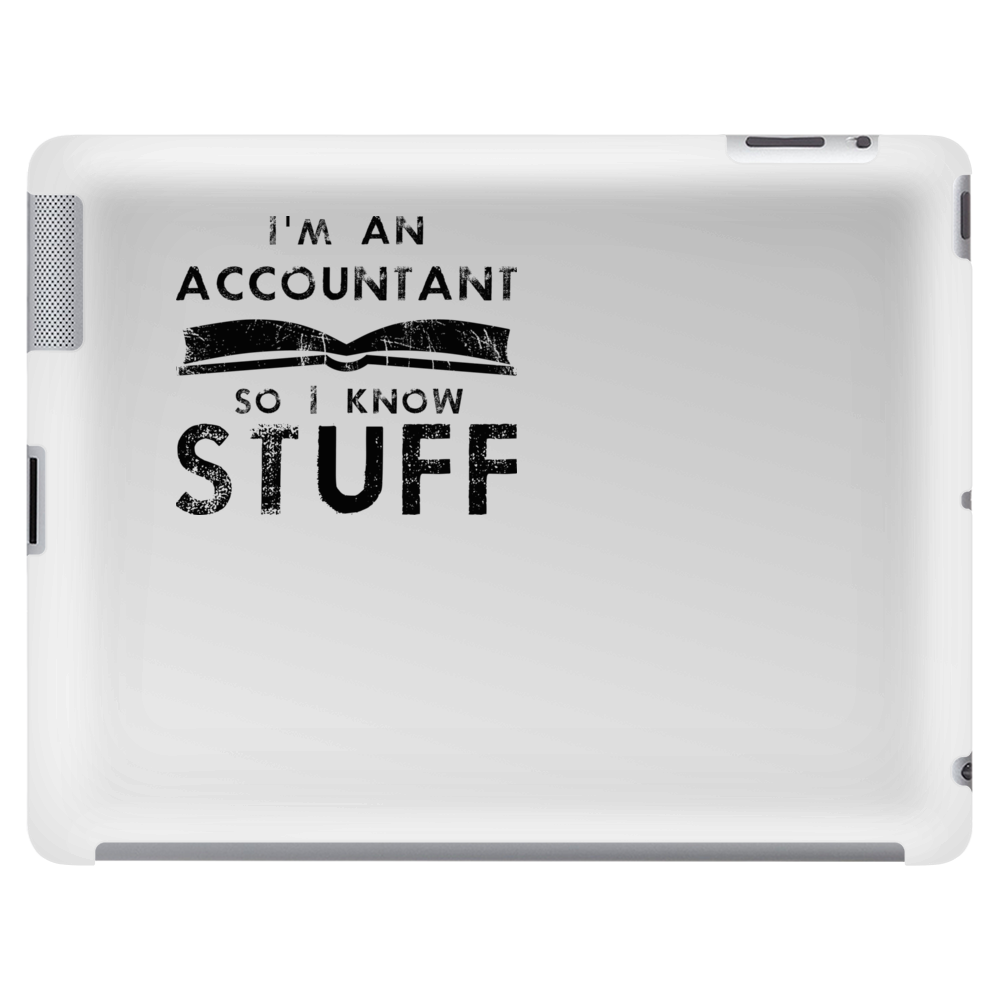 Accountants know stuff - blk Tablet