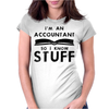 Accountants know stuff - blk Womens Fitted T-Shirt