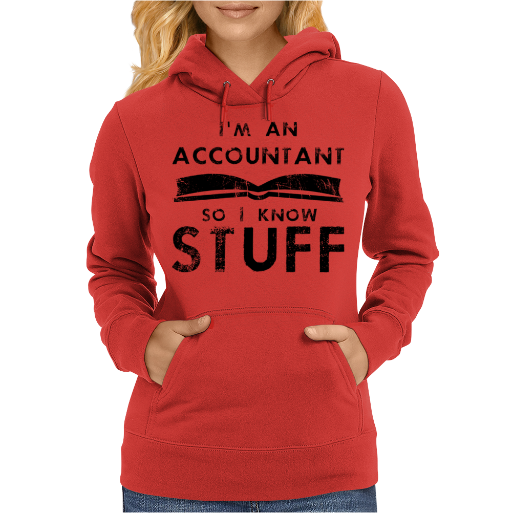 Accountants know stuff - blk Womens Hoodie