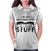 Accountants know stuff - blk Womens Polo