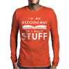Accountants know stuff Mens Long Sleeve T-Shirt
