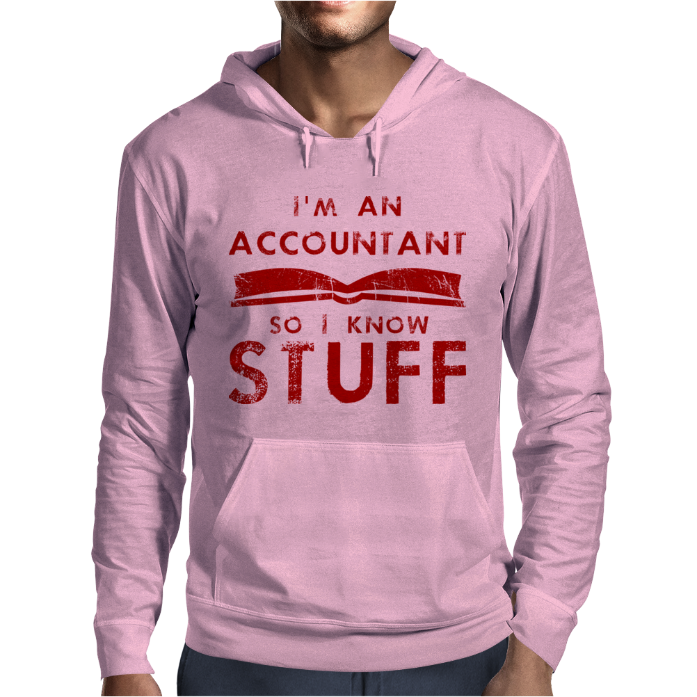 Accountants know stuff - red Mens Hoodie