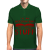 Accountants know stuff - red Mens Polo
