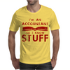 Accountants know stuff - red Mens T-Shirt