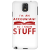 Accountants know stuff - red Phone Case