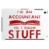 Accountants know stuff - red Tablet