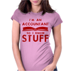 Accountants know stuff - red Womens Fitted T-Shirt