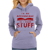 Accountants know stuff - red Womens Hoodie