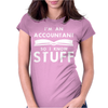 Accountants know stuff Womens Fitted T-Shirt