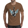 acoustic guitar light blue wings grunge style Mens T-Shirt