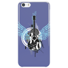 acoustic guitar light blue wings grunge style Phone Case