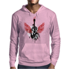 acoustic guitar red wings grunge style Mens Hoodie
