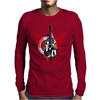 acoustic guitar red wings grunge style Mens Long Sleeve T-Shirt