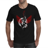 acoustic guitar red wings grunge style Mens T-Shirt