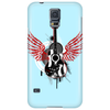 acoustic guitar red wings grunge style Phone Case