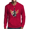 acoustic guitar yellow wings grunge style Mens Hoodie