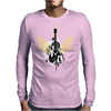 acoustic guitar yellow wings grunge style Mens Long Sleeve T-Shirt