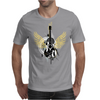 acoustic guitar yellow wings grunge style Mens T-Shirt