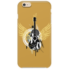 acoustic guitar yellow wings grunge style Phone Case
