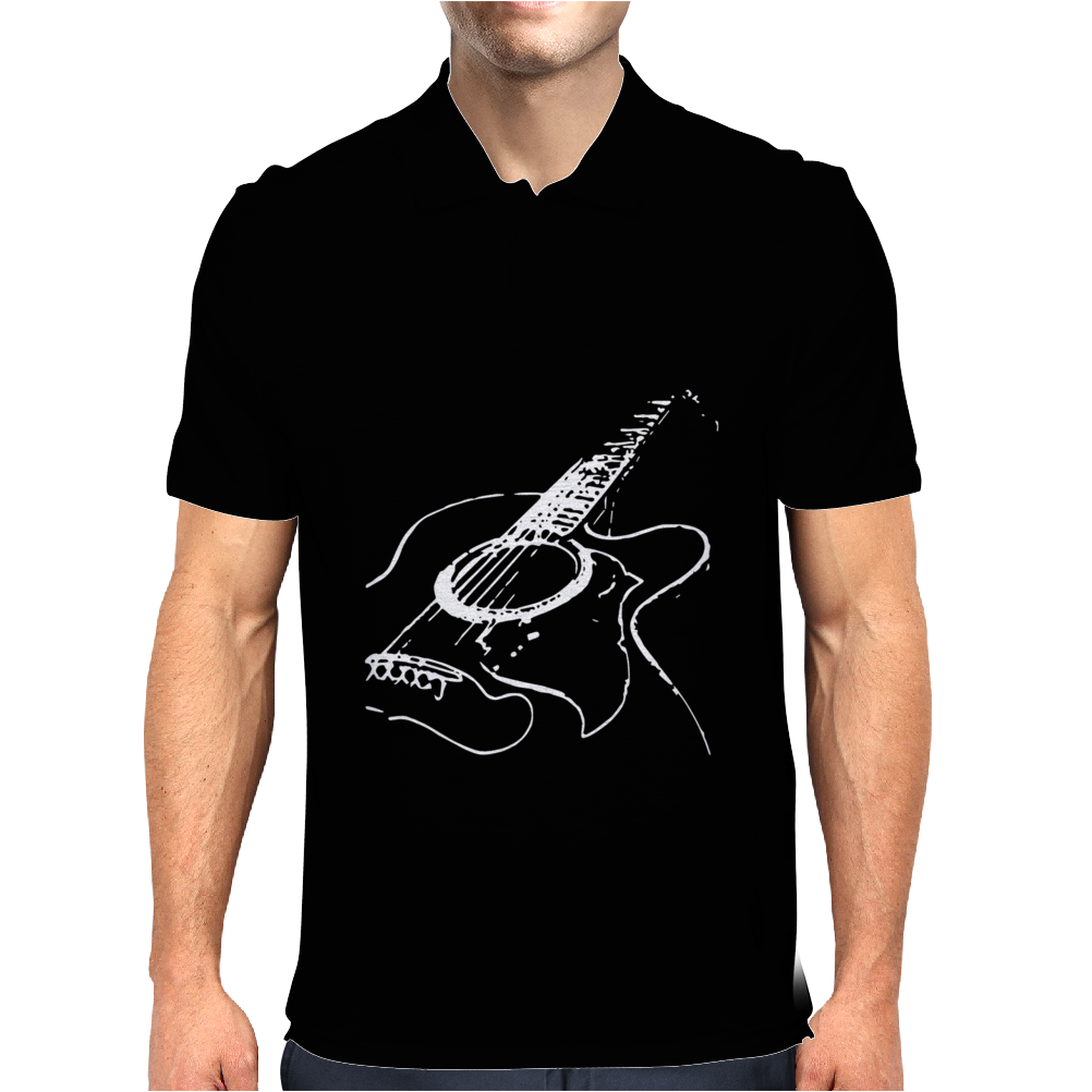 Acustic Guitar cool Mens Polo