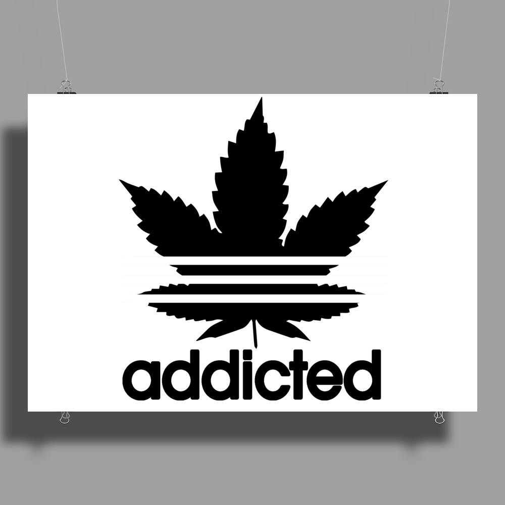 Addicted, Addidas Poster Print (Landscape)