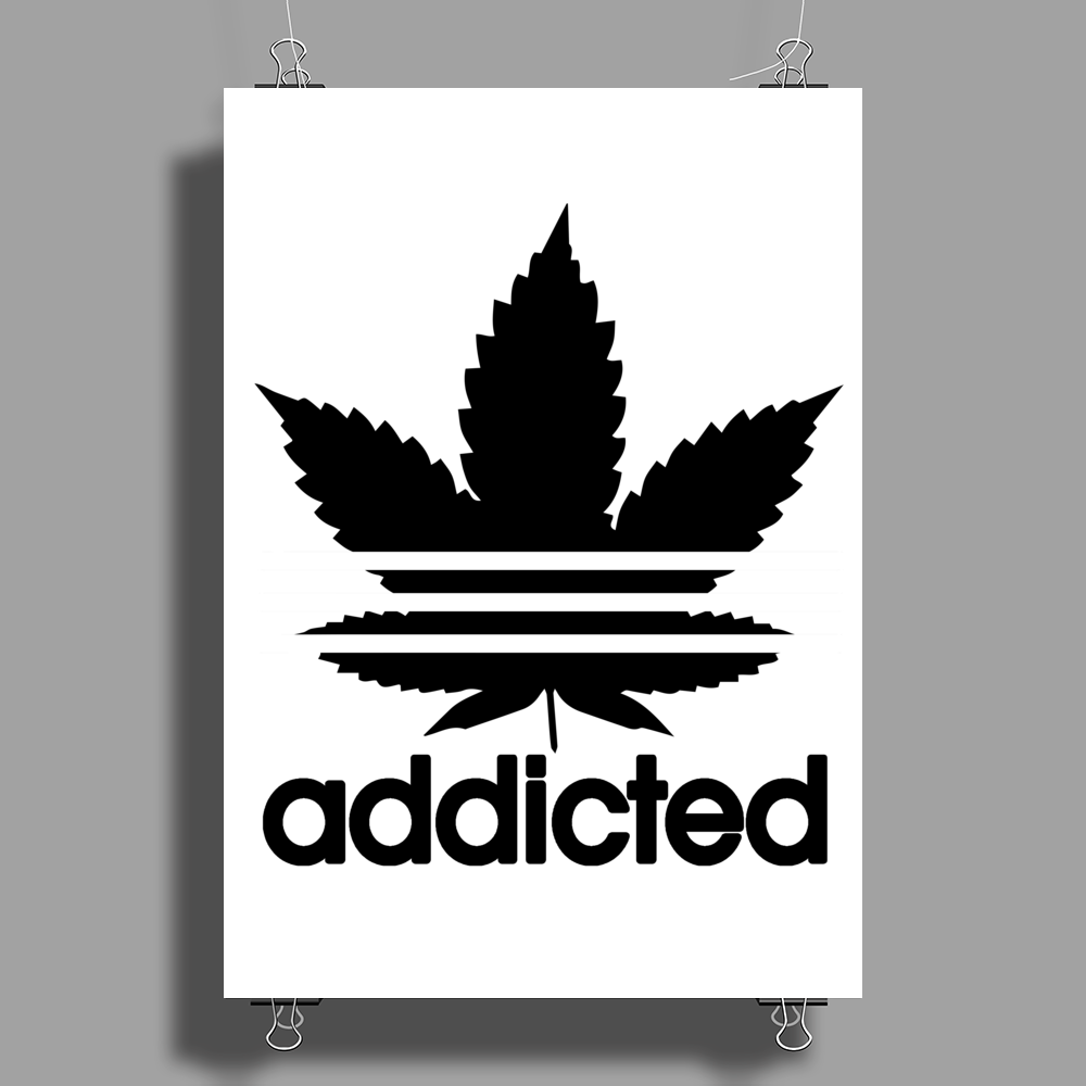 Addicted, Addidas Poster Print (Portrait)