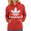 Addicted, Cannabis, Marijuana Womens Hoodie