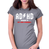 ADHD - Funny Womens Fitted T-Shirt