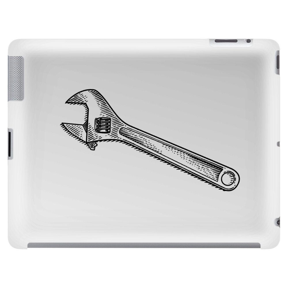 Adjustable wrench art Tablet (horizontal)