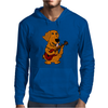 Adorable Funny Golden Retriever Puppy Dog Playing Red Guitar Mens Hoodie