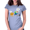 Adventure Time Finn And Jake Dude Womens Fitted T-Shirt