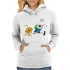 Adventure Time Finn And Jake Dude Womens Hoodie