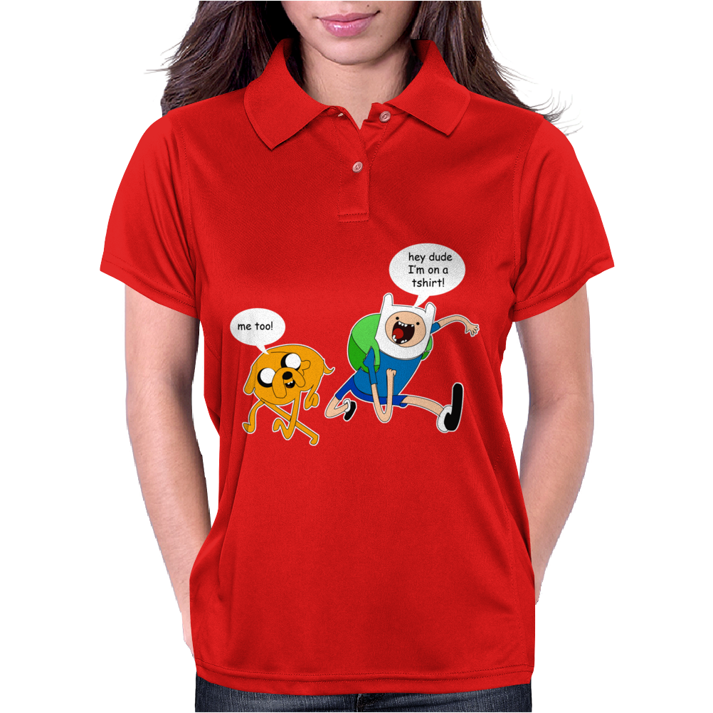 Adventure Time Finn And Jake Dude Womens Polo