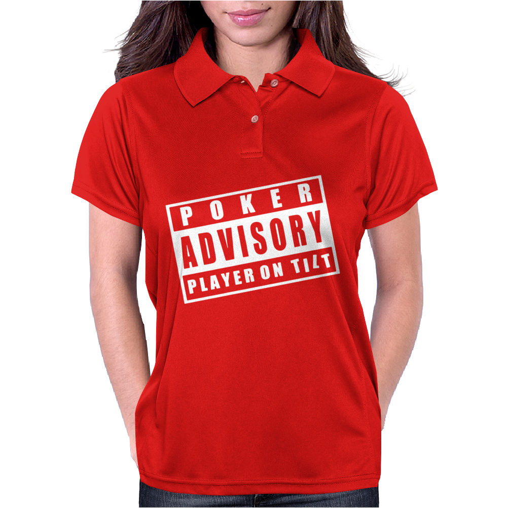 Advisory Poker Player On Tilt Womens Polo