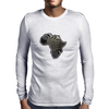 Africa in gold & silver Mens Long Sleeve T-Shirt