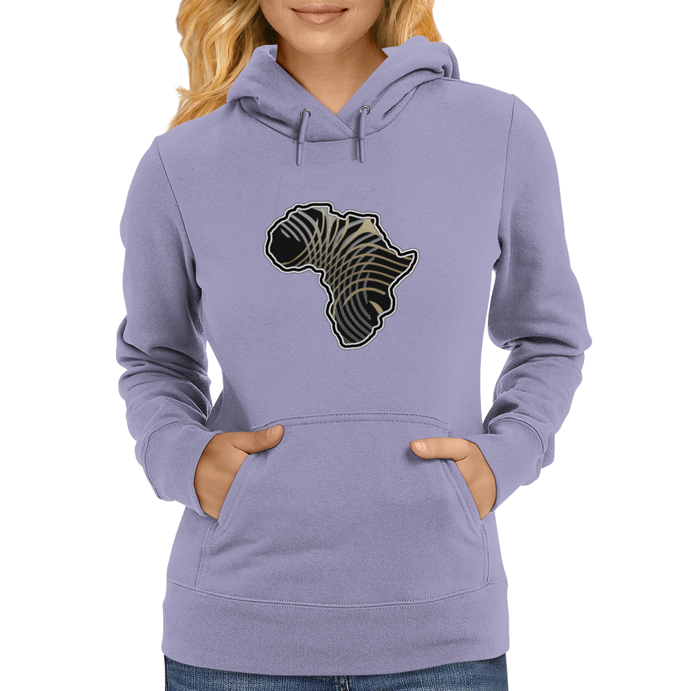 Africa in gold & silver Womens Hoodie