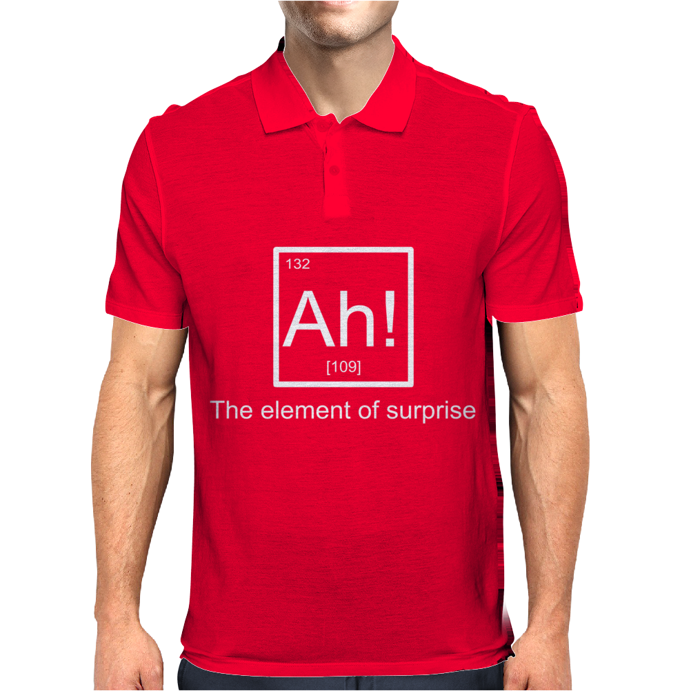 Ah! The element of surprise Mens Polo