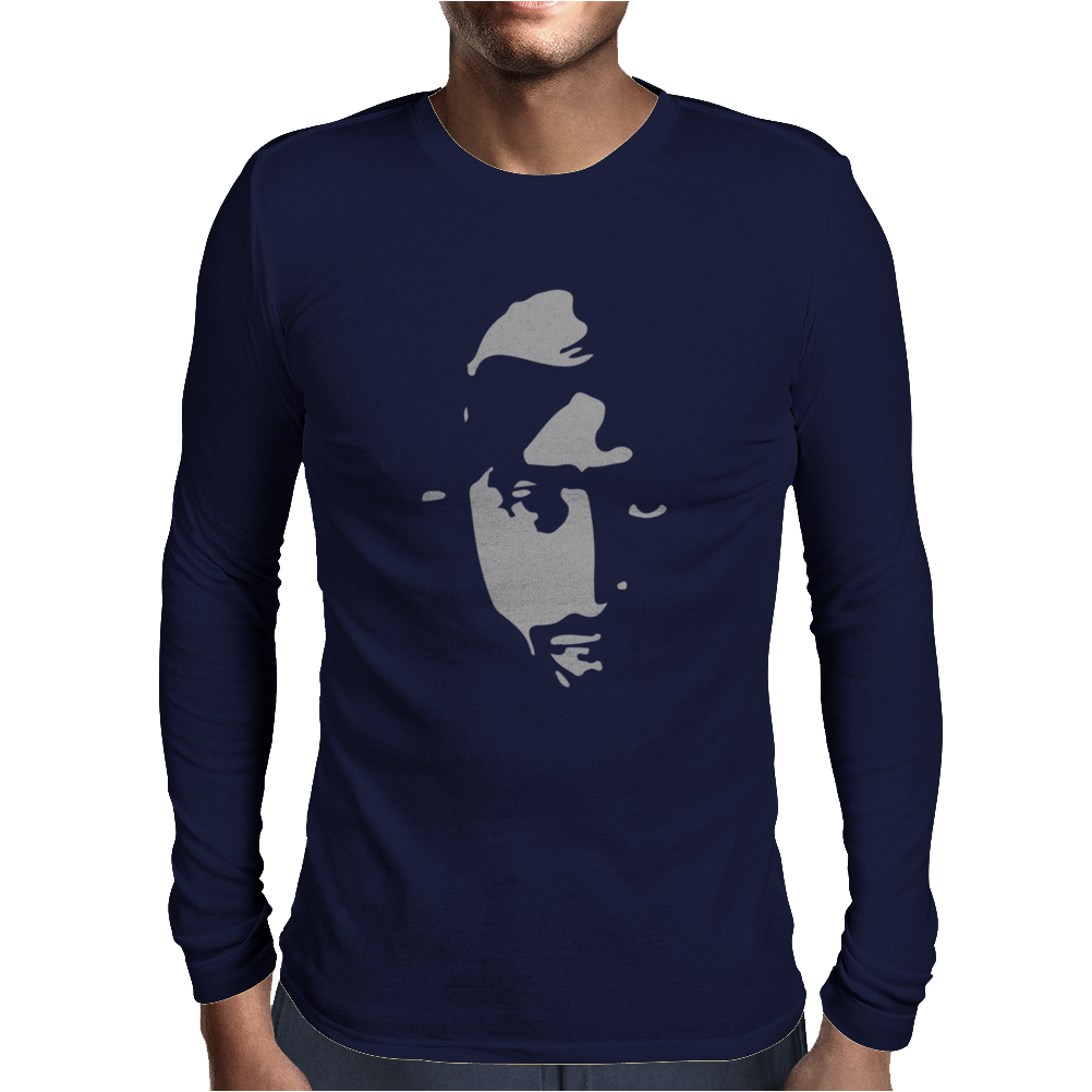 Airbrushed Stencil Mens Long Sleeve T-Shirt