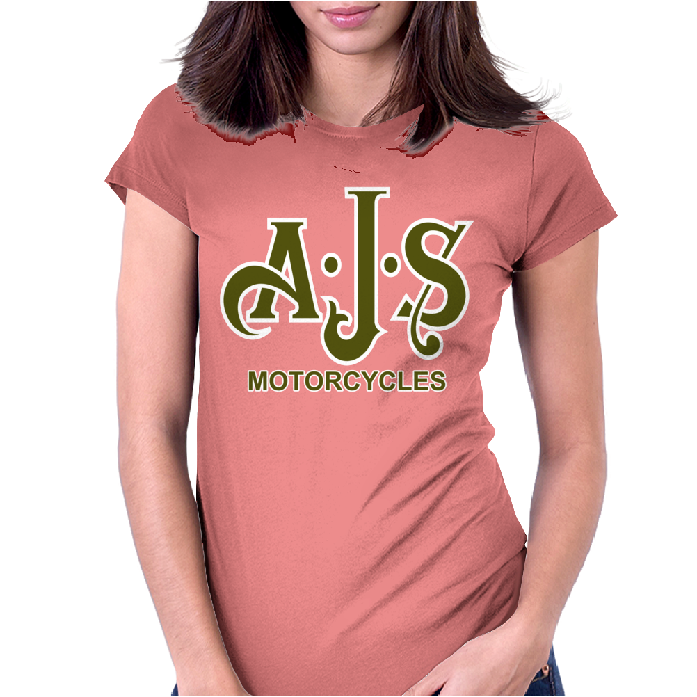 Ajs Motorcycles Womens Fitted T-Shirt