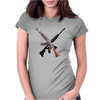 AK-47 and Bushmaster AR-15 rifles Womens Fitted T-Shirt