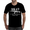 AK47 funny,political,weapons,cool,retro,rude Mens T-Shirt
