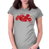 Akira Inspired Bike Motorbike Womens Fitted T-Shirt