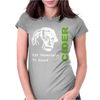 Albert Einstein Theory of 7% Proof Geeky Science Cider Scrumpy Drinking Womens Fitted T-Shirt