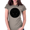 Alchemy Circle Black Womens Fitted T-Shirt