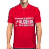 Alcohol Is A Solution Mens Polo